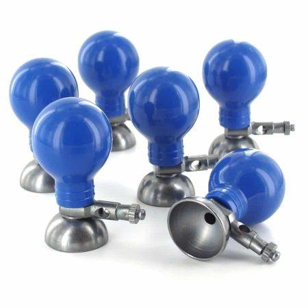 électrodes à ventouse métallique